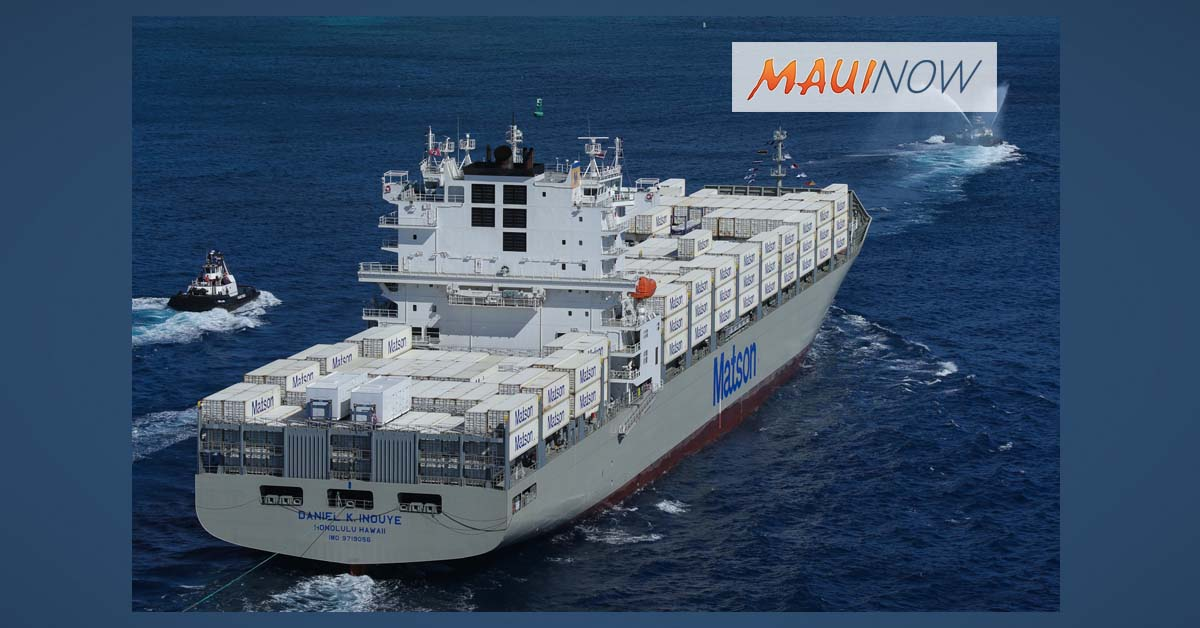 Largest Containership Built in US Arrives in Hawai'i