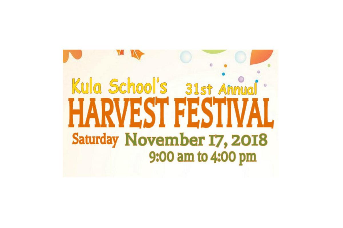 Kula Elementary's 31st Annual Harvest Festival, Nov. 17