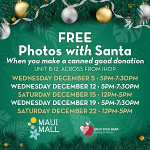 Free Santa Photos at Maui Mall
