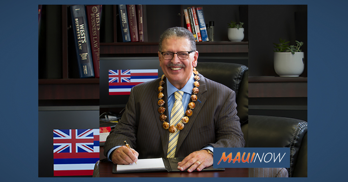 Maui Mayor Elect Victorino Accepting Resumes