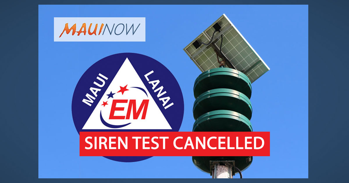 Monthly Siren and EAS Test Suspended for December