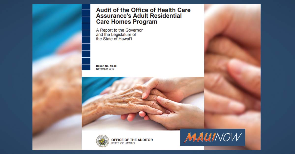 Audit Looks at Health, Safety of Adult Care Homes