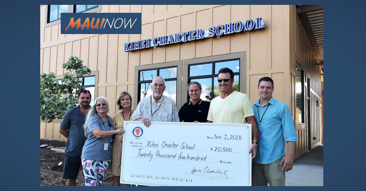 Kīhei Charter School Gifted $20,500 from Nick's Fishmarket Maui