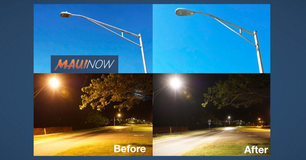 maui now maui energy saving streetlight installations starting in