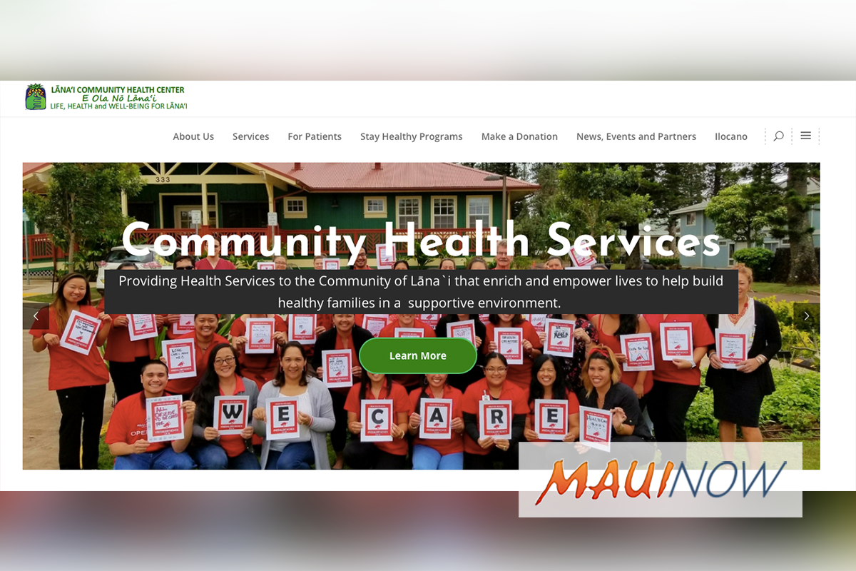 Lānaʻi Community Health Center Launches New User-Friendly Website