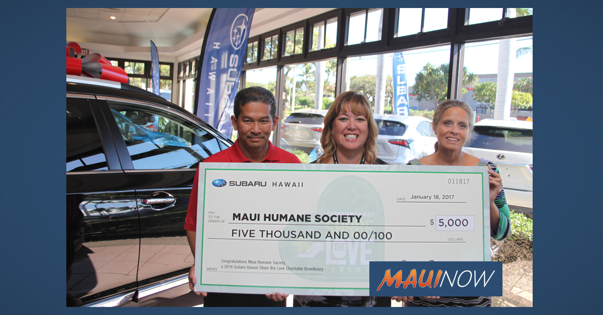 Subaru Hawaiʻi to Donate $50K to Six Nonprofits