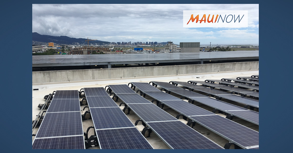 4,200 Solar Panels Installed at HNL Airport Parking Garage