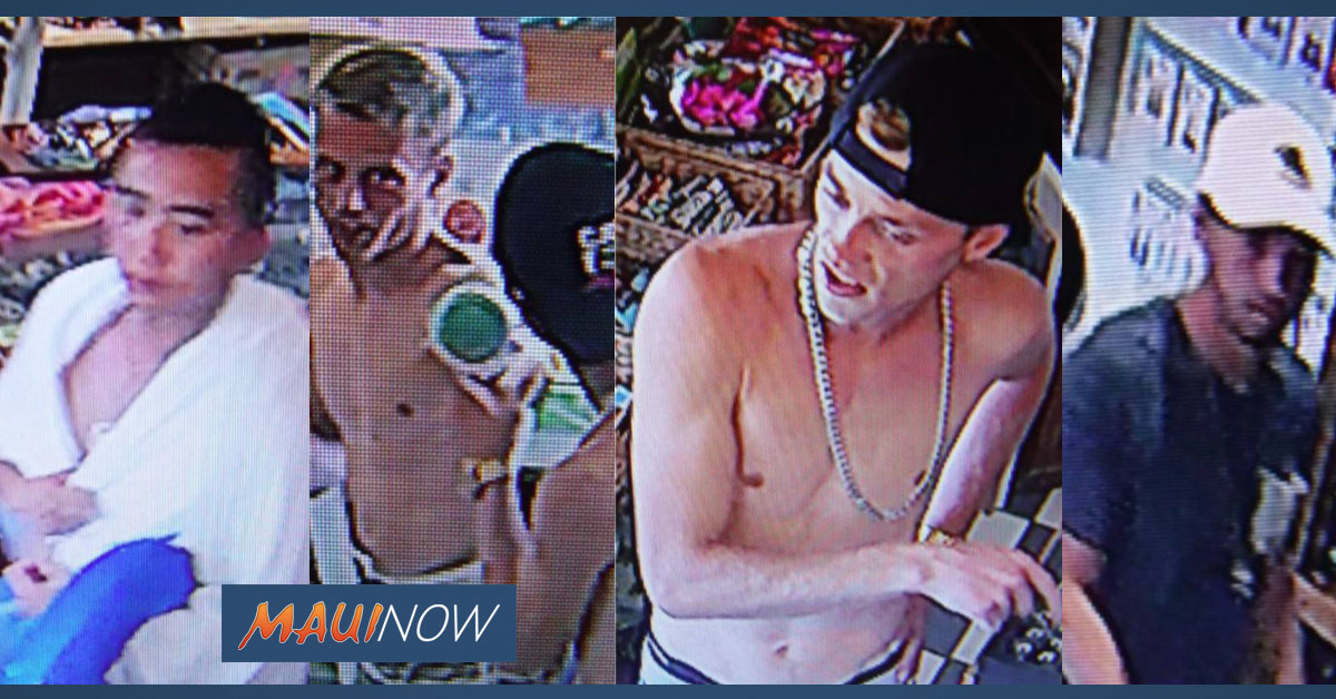 Four Sought in Alleged Mā'alaea Jewelry Theft