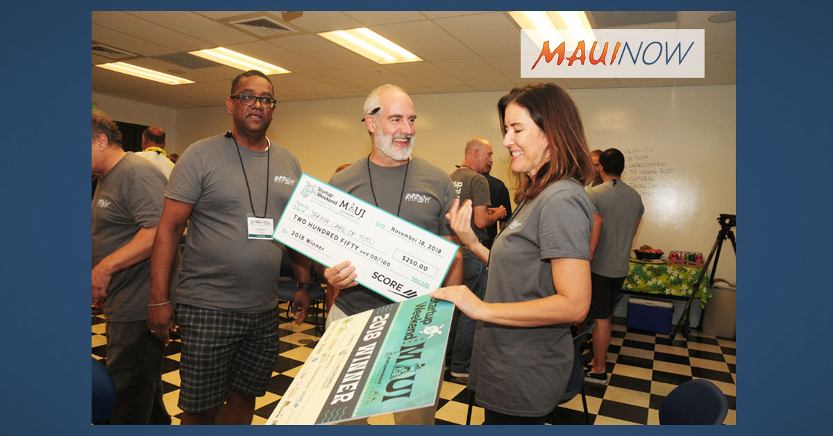 """Taking Care of Tutu"" Earns Top Honors at Startup Weekend Maui"