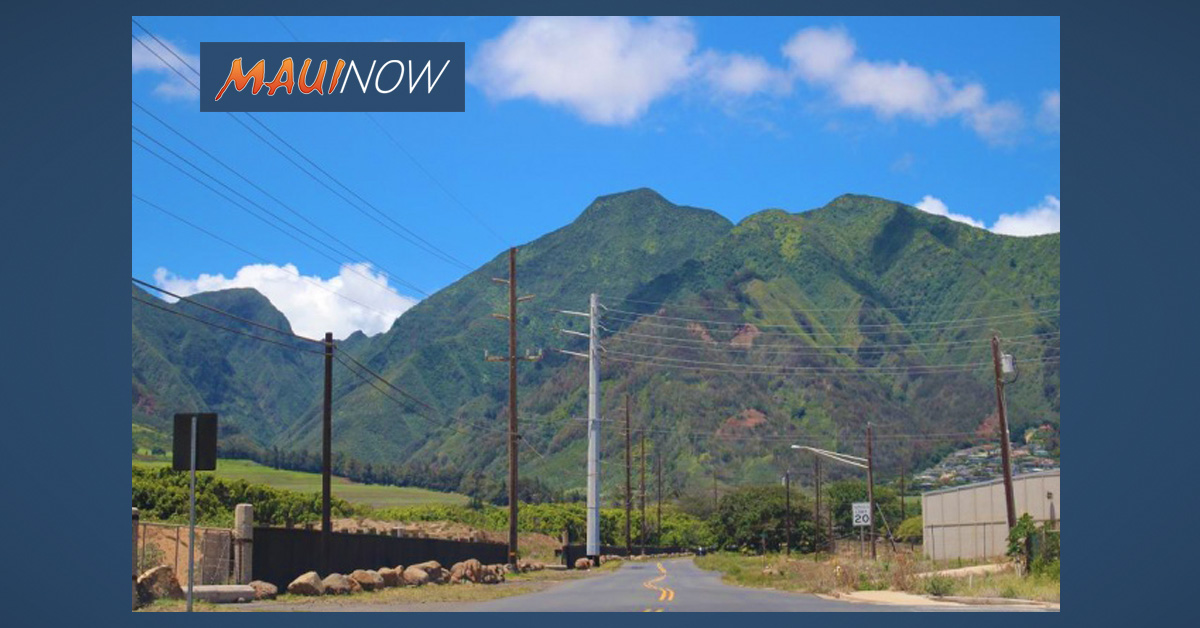 Power RESTORED: Wailuku, Spreckelsville, Kū'au and Waikapū