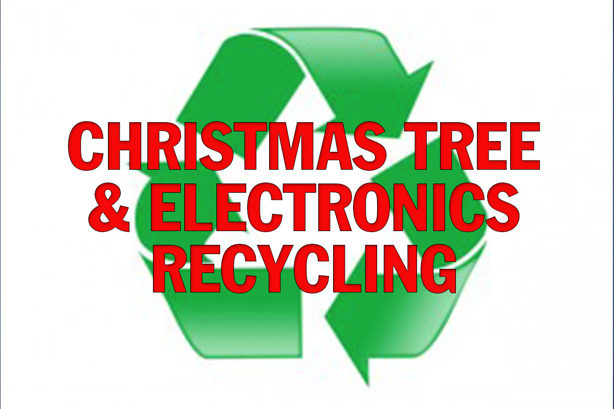 Christmas Tree-Cycling & E-Cycling Services Offered