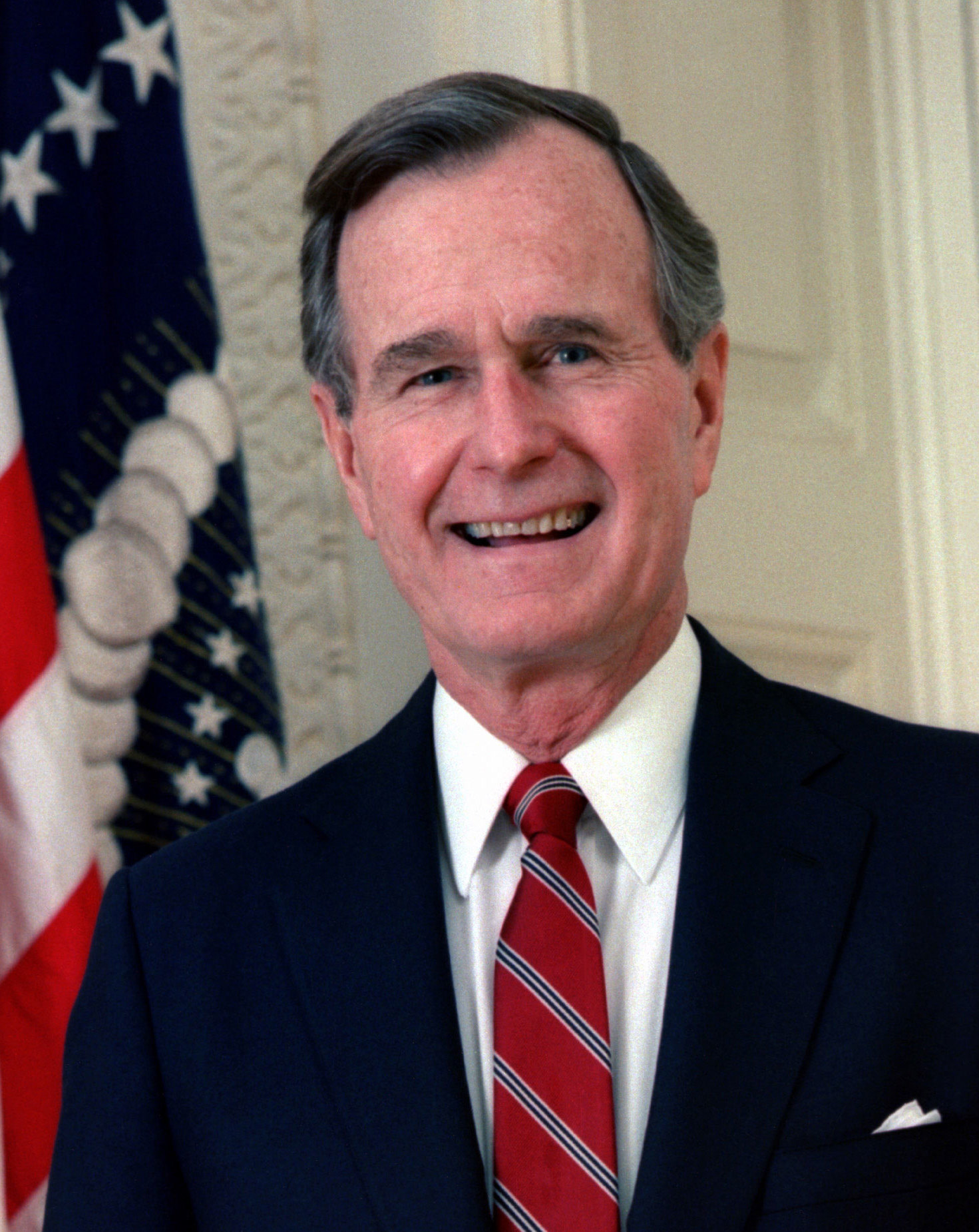 Flags Lowered in Honor of President George H.W. Bush
