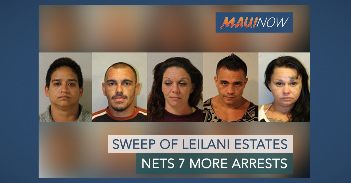 Sweep of Leilani Estates Nets 7 More Arrests