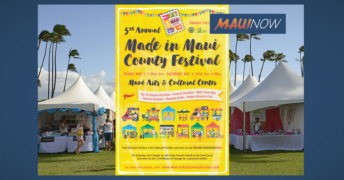 Made in Maui County Festival's Program Earns Pinnacle Award