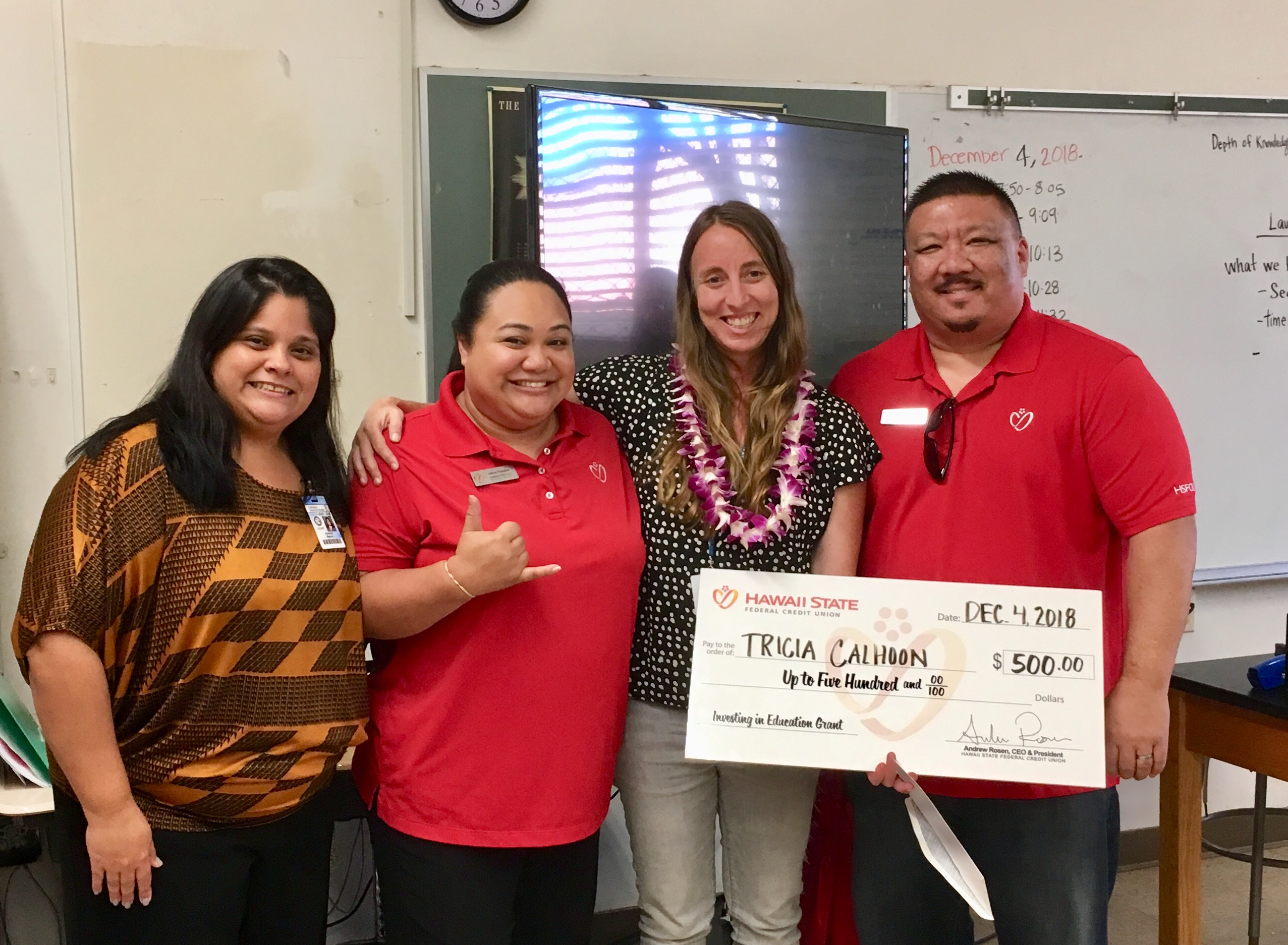 Credit Union Awards $40K to Hawai'i Teachers