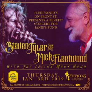 Steven Tyler and Mick Fleetwood at Fleetwood's on Front Street, Jan. 3