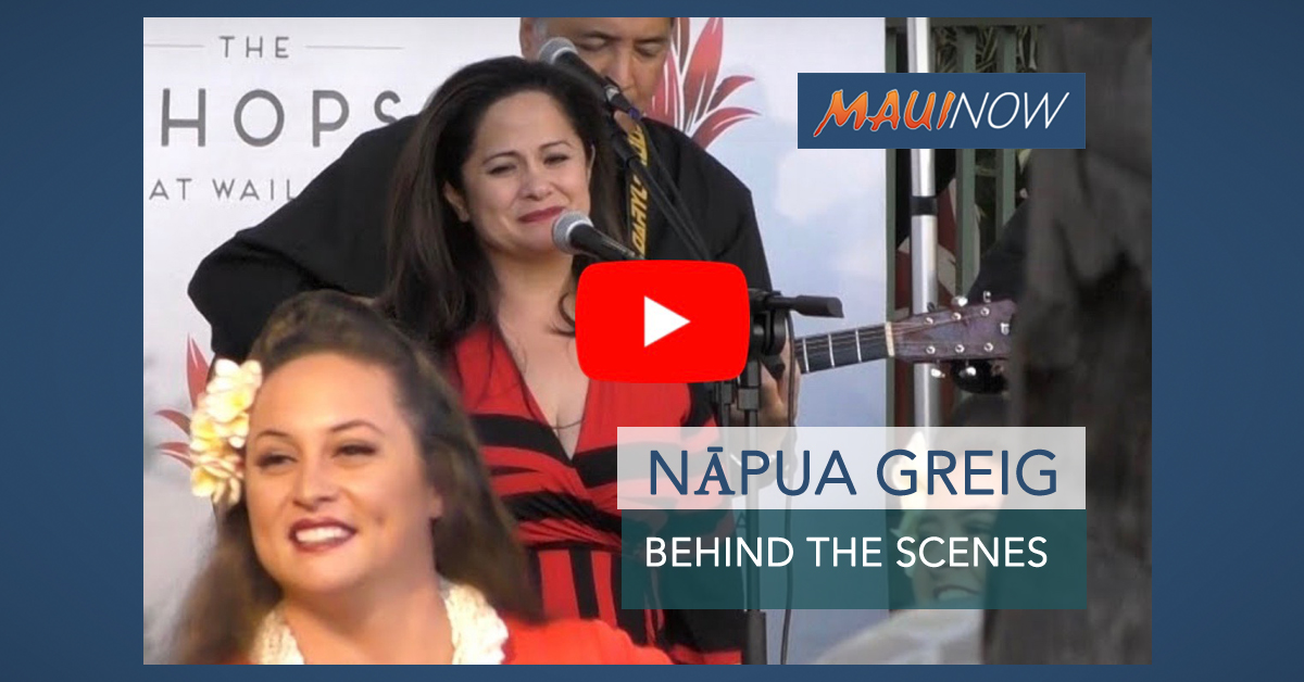 Behind the Scenes with Singer Nāpua Greig