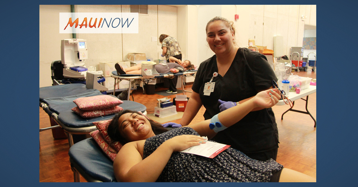 Maui February Blood Bank Drive