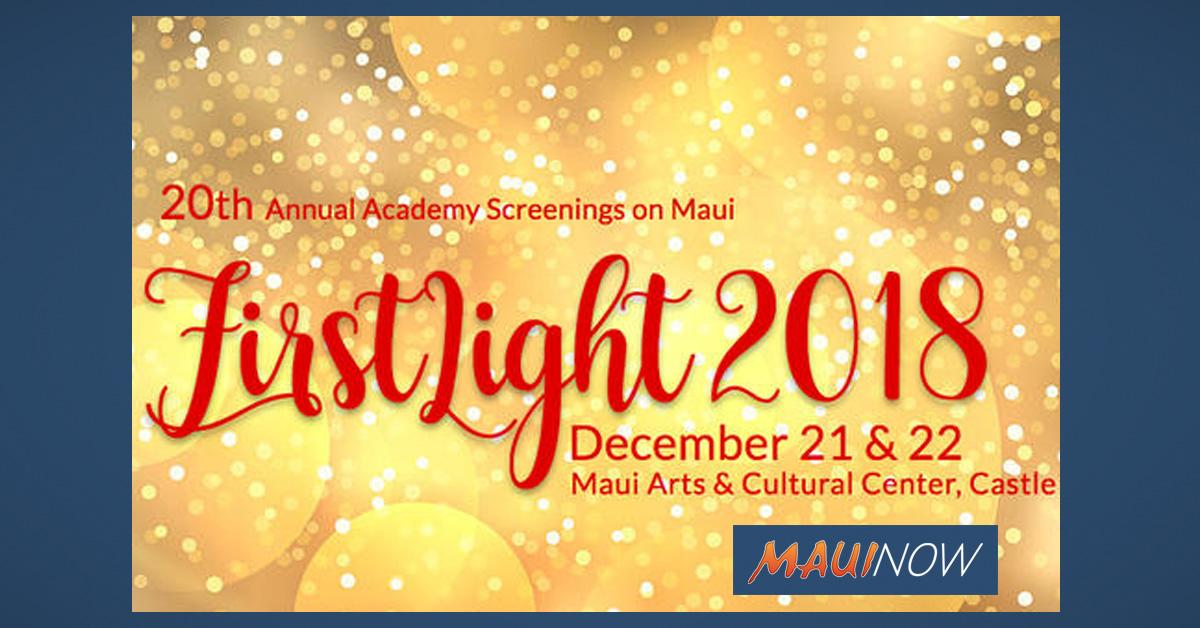"Maui Film Festival Presents ""FirstLight"" Dec. 21-22"