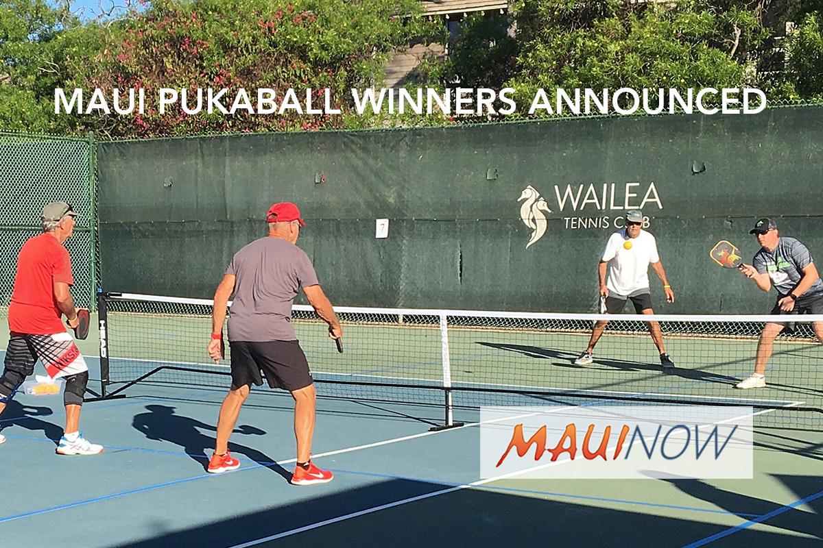 Maui Pukaball Tournament Winners Announced