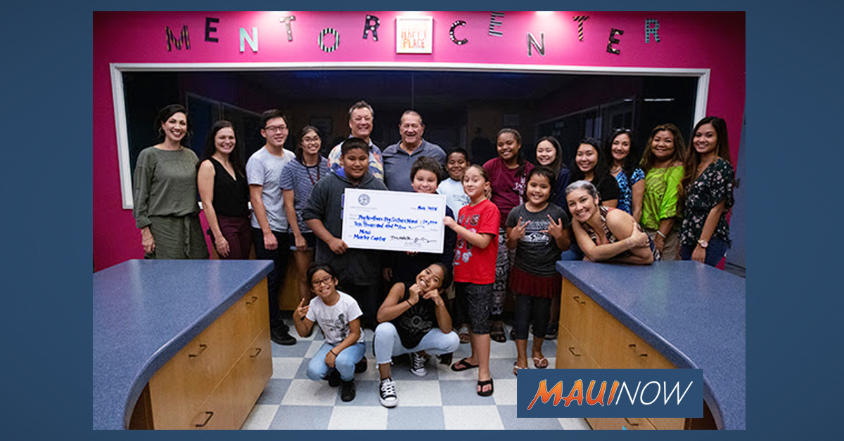 Big Brothers Big Sisters Gifted $10K for Maui Mentor Center