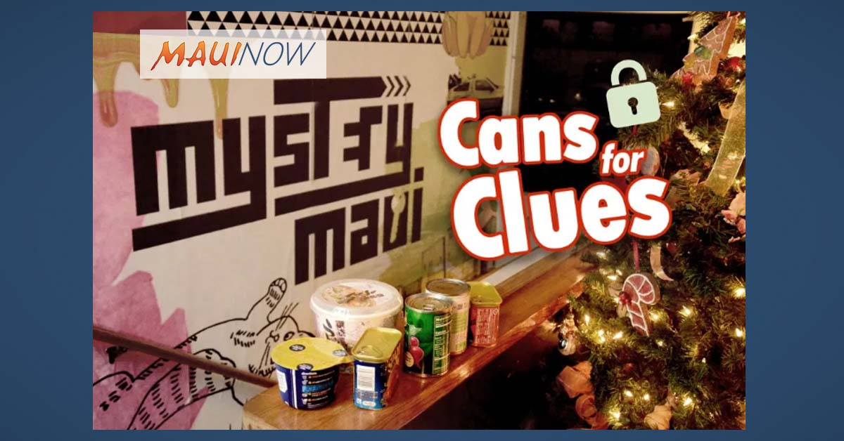 Cans for Clues Collection at Mystery Maui Escape Room