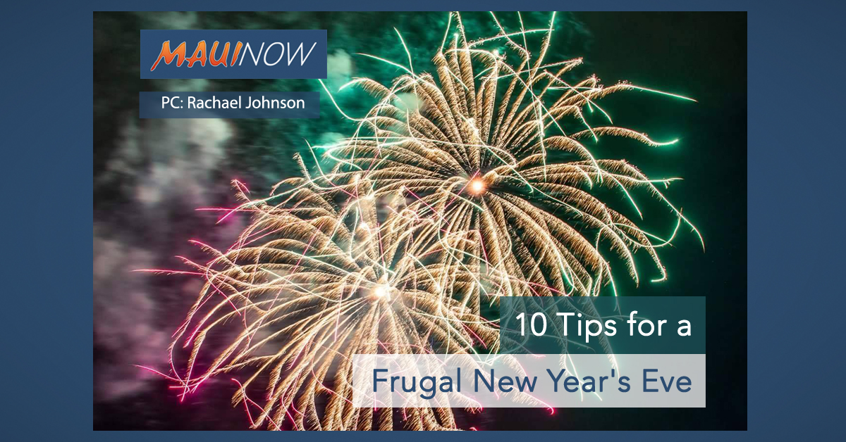 10 Tips for a Frugal New Year's Eve