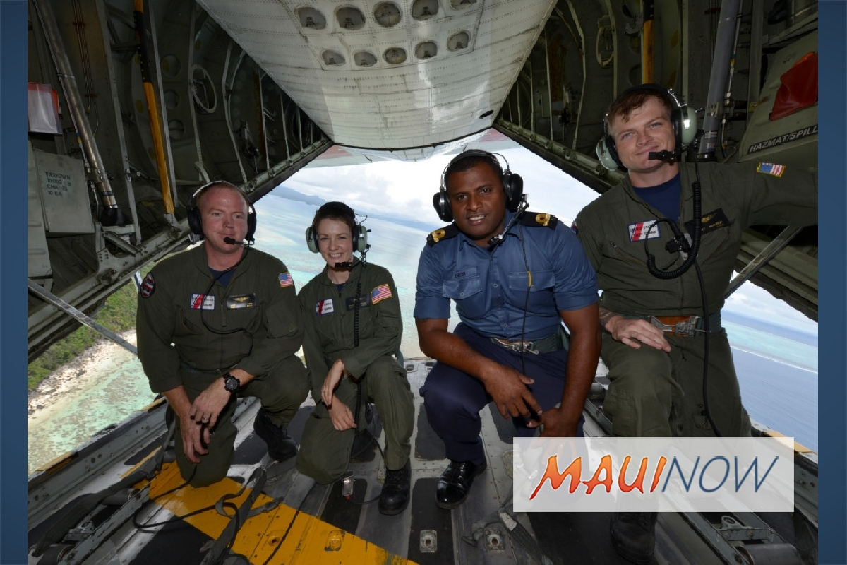 Fijian Shiprider Joins Coast Guard Aircrew on Patrol