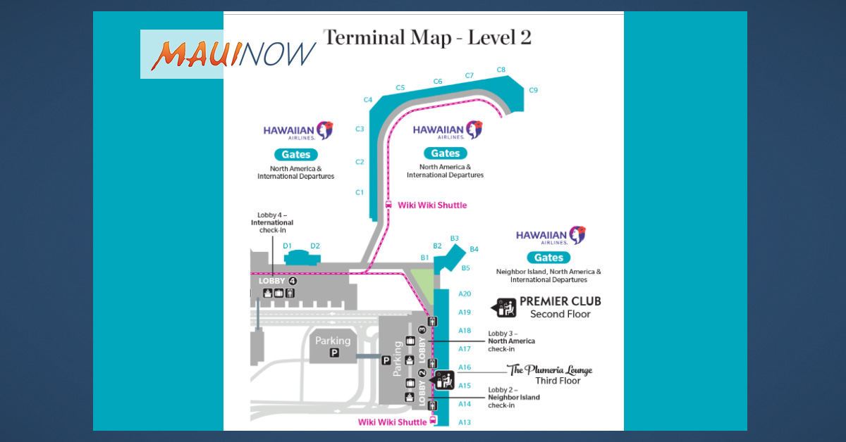 New Hawaiian Airlines HNL International Check-in