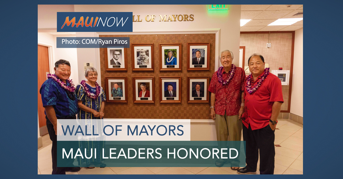 Walls of Mayors, Managing Directors Unveiled