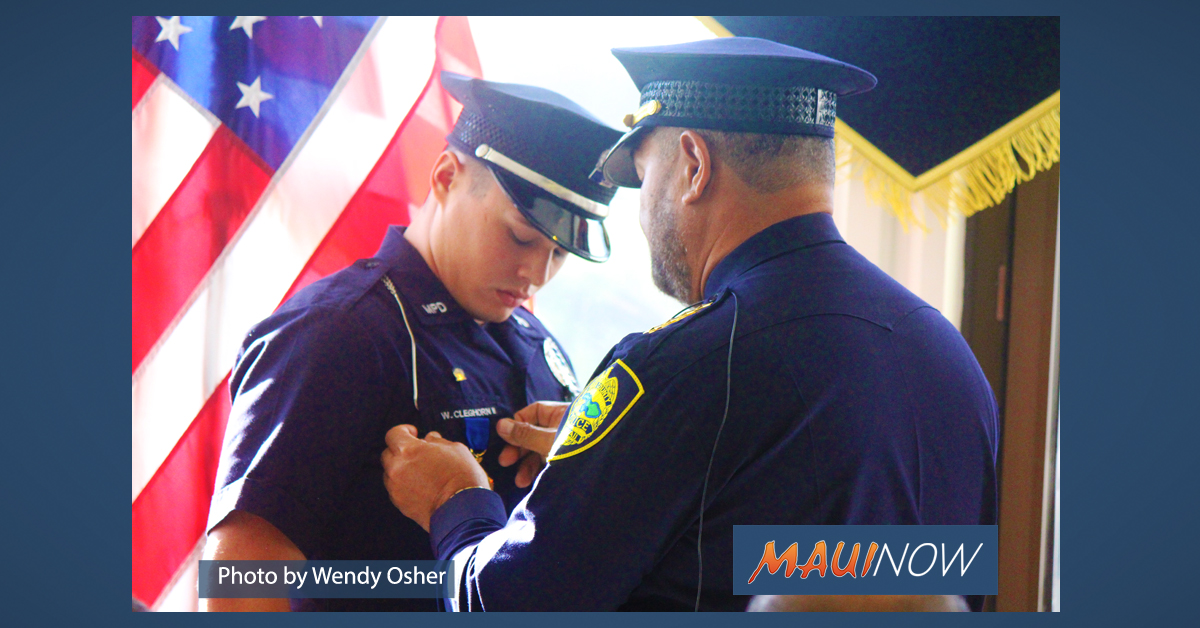 Maui Officer Honored with Gold Medal of Valor, Two Promoted to Captain