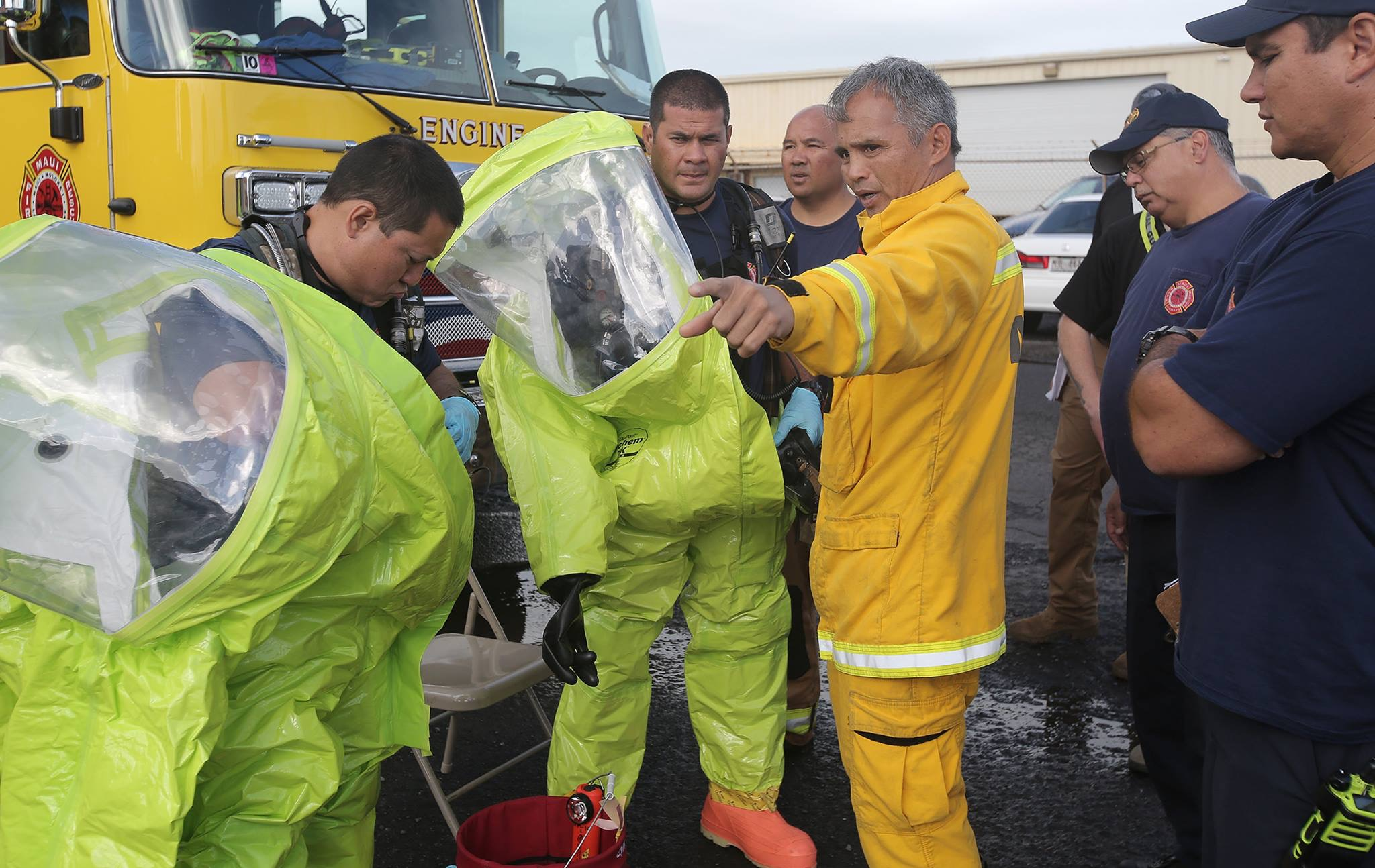 Maui Emergency Responders Training with Hawai'i National Guard