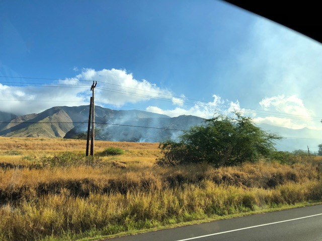 Olowalu Brush Fire Burns 75 Acres, 80% Contained