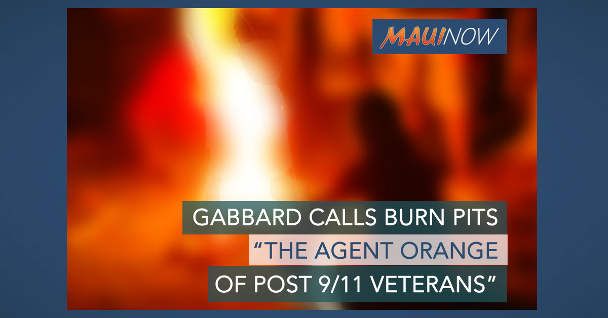 Rep. Gabbard Introduces Burn Pits Legislation in Congress