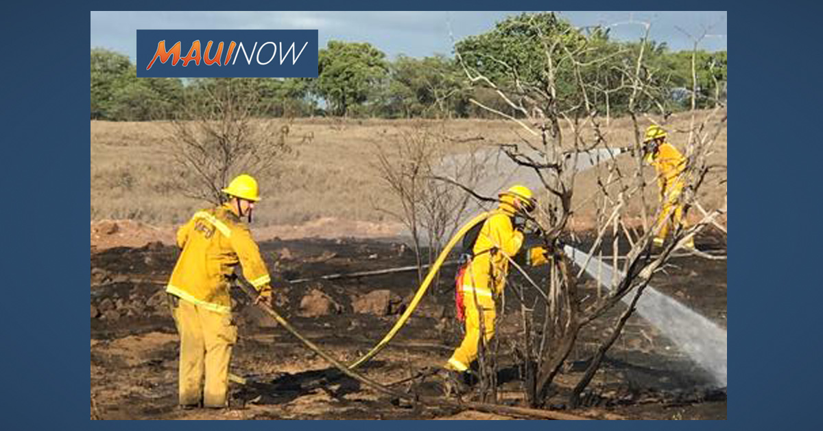 Juvenile Arrested, Released for Suspected Arson in Kīhei