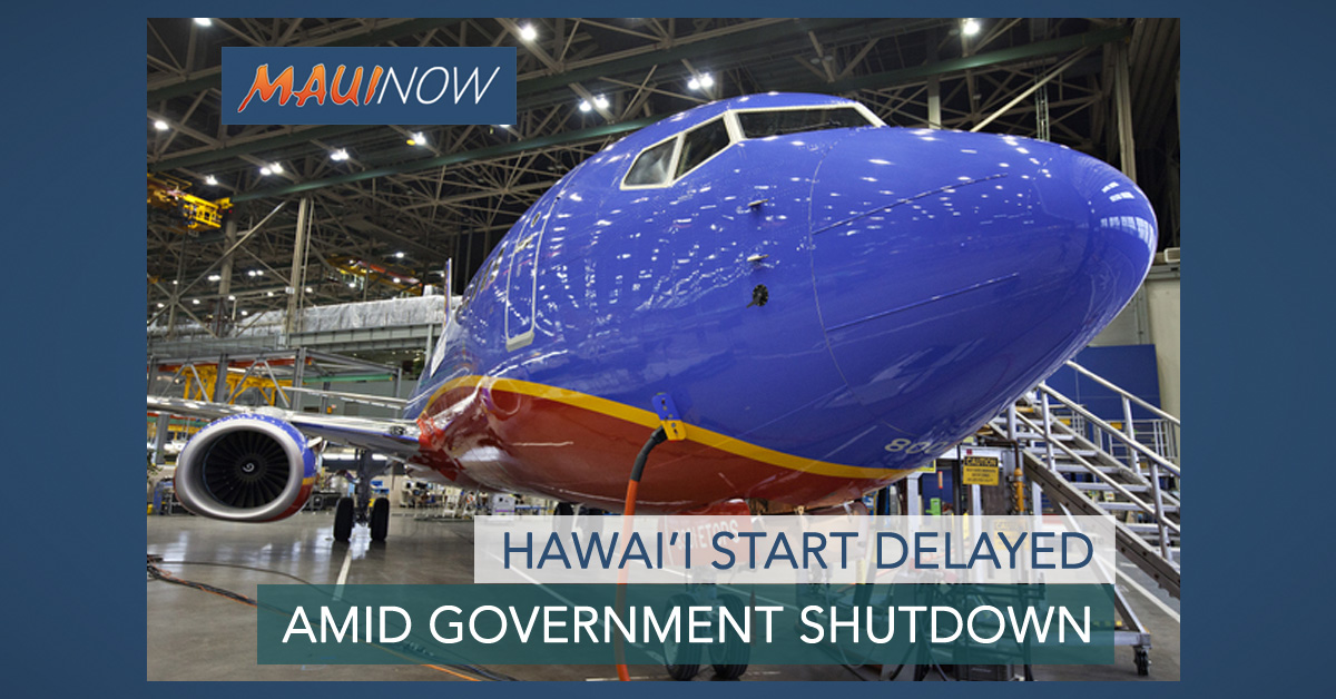 Southwest Hawai'i Start Suspended Amid Government Shutdown
