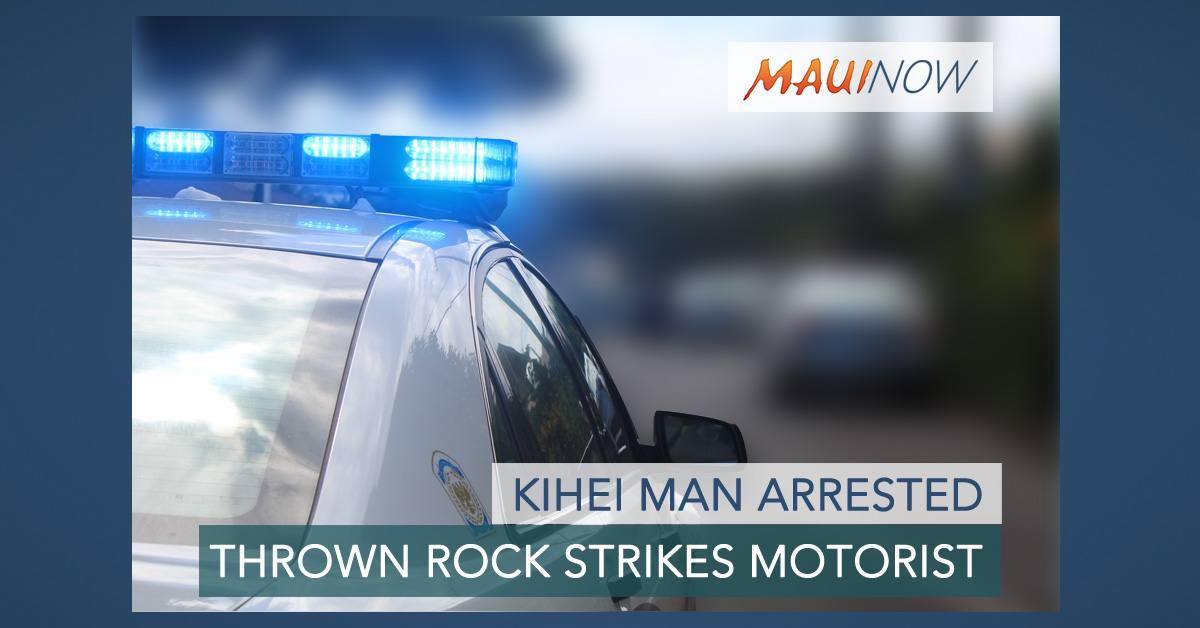 Arrest: Thrown Rock Strikes Passing Motorist