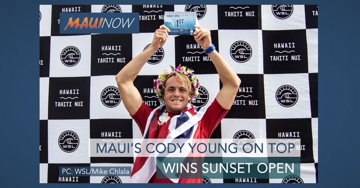 Maui's Cody Young Wins Sunset Open