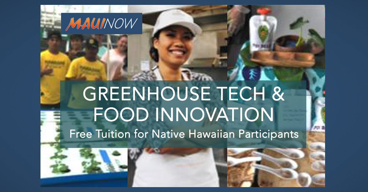 UHMC Greenhouse Tech, Food Innovation Certificate
