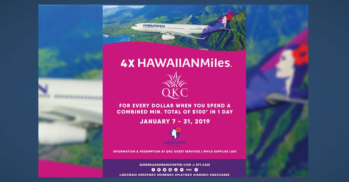 Queen Ka'ahumanu Center Hosts 4x HawaiianMiles Promotion