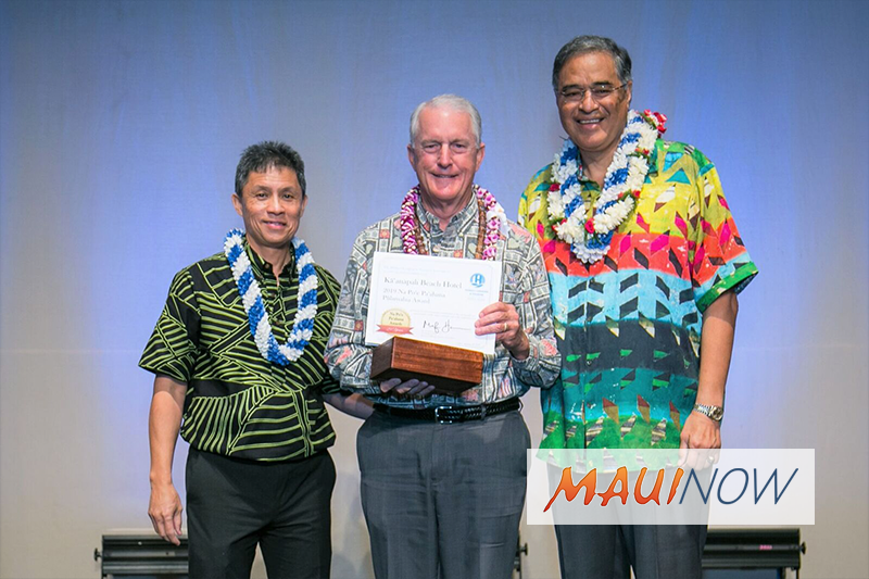 Kāʻanapali Beach Hotel Receives Cultural Preservation Award