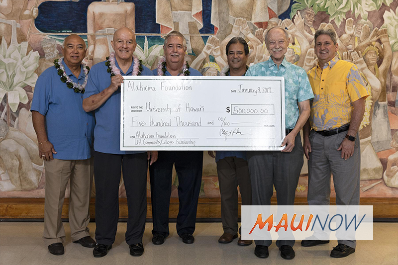 Alakaʻina Foundation Donates $500K for UH Community College Students