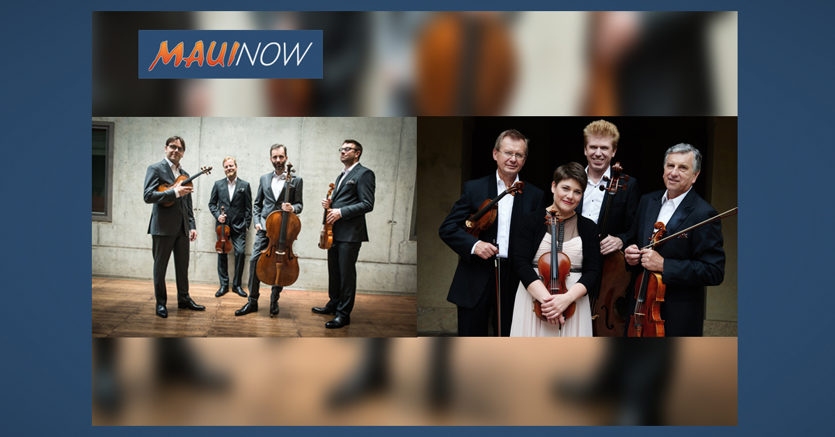 Two World-Renowned Czech Classical String Quartets in Joint Concert