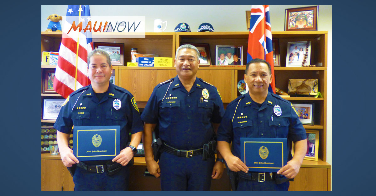 Two Retired Maui Officers Join MPD Reserve Program