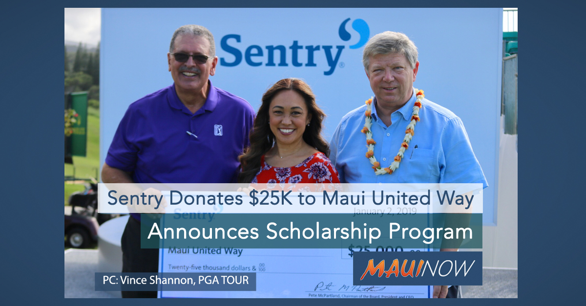 Sentry Donates $25,000 to Maui United Way