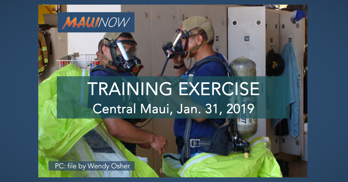Training Exercise in Central Maui, Jan. 31