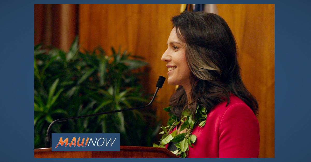 Gabbard Delivers Message of Aloha at Honolulu Council Inauguration