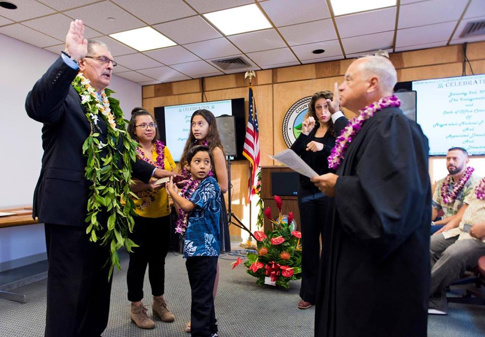 Mayor Mike Victorino Sworn Into Office