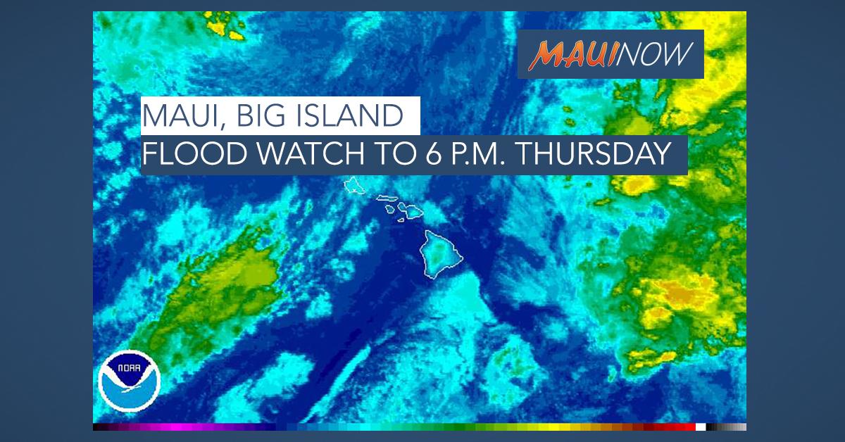 Maui, Big Island Flood Watch Through Tuesday