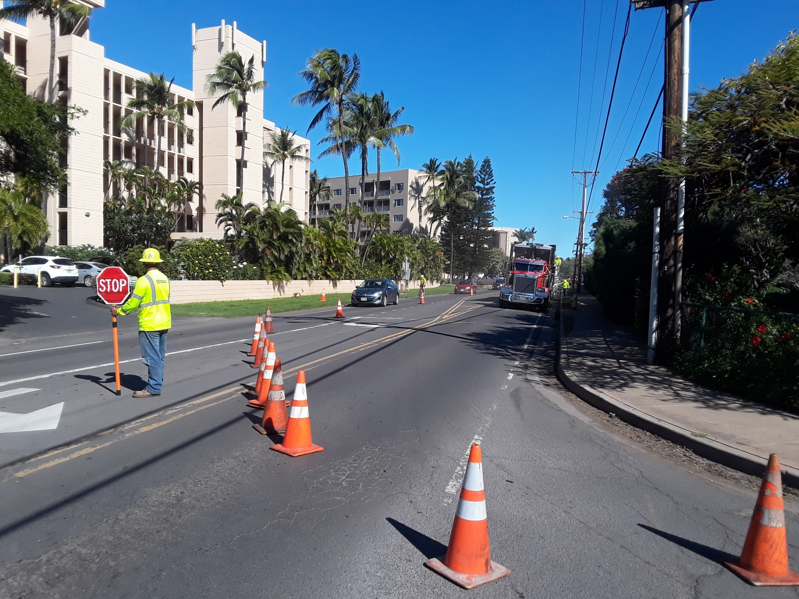 Kīhei Roadwork Interrupts Maui Bus Service